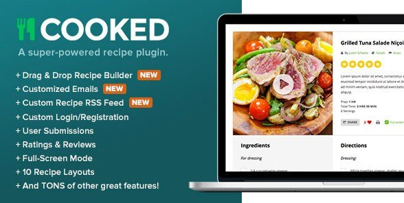 Cooked Classic – A Powerful Recipe Plugin for WordPress