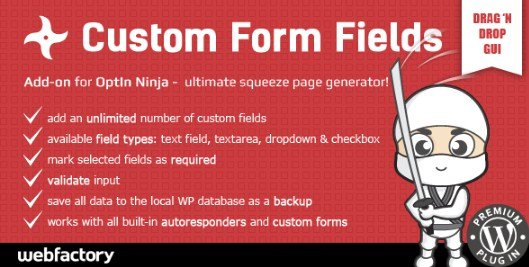 Custom Form Fields Add-on for OptIn Ninja