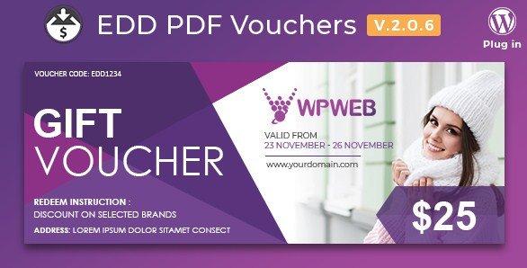 Easy Digital Downloads – PDF Vouchers Features