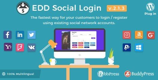 Easy Digital Downloads – Social Login