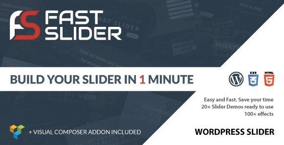 Fast Slider – Easy and Fast Slider Plugin for WordPress