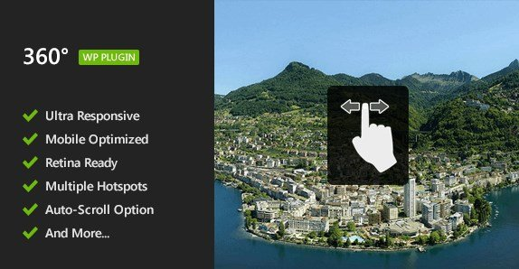 Flat 360° Panoramic Viewer – WordPress Plugin