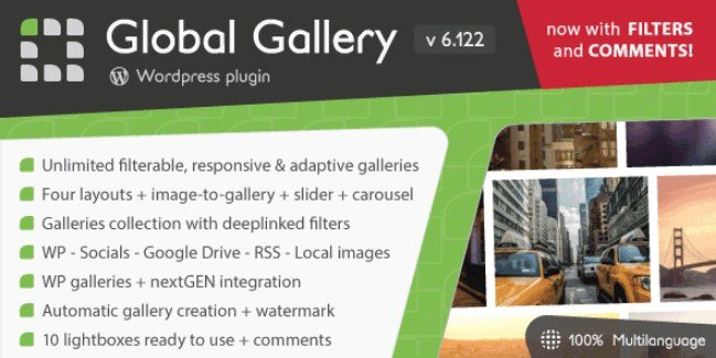 Global Gallery – WordPress Responsive Gallery