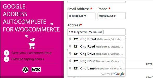 Google Address Autocomplete for WooCommerce