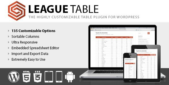 League Table Wordpress Plugin