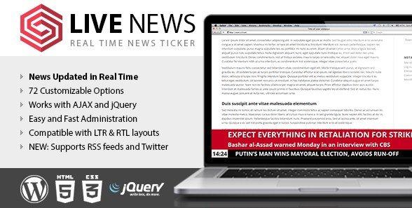 Live News – Real Time News Ticker