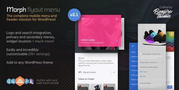 Download Morph – Flyout Mobile Menu for WordPress
