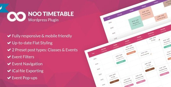 Noo Timetable – Responsive Calendar & Auto Sync WordPress Plugin