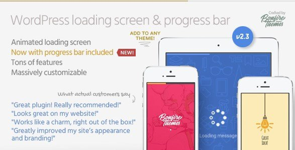 PageLoader – Loading Screen and Progress Bar for WordPress