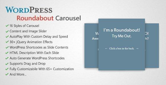 Roundabout – WordPress Carousel Slider Plugin