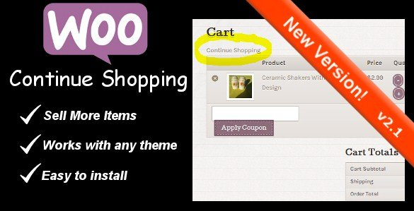 WooCommerce Continue Shopping Link