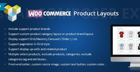 Woocommerce Products Layouts For Visual Composer