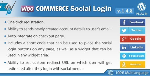 WooCommerce Social Login By Wpweb