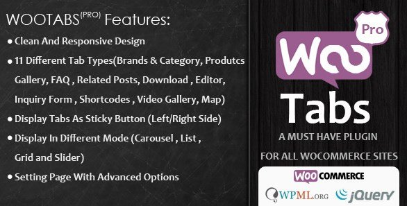 Woocommerce Tabs Pro – Extra Tabs for Product Page