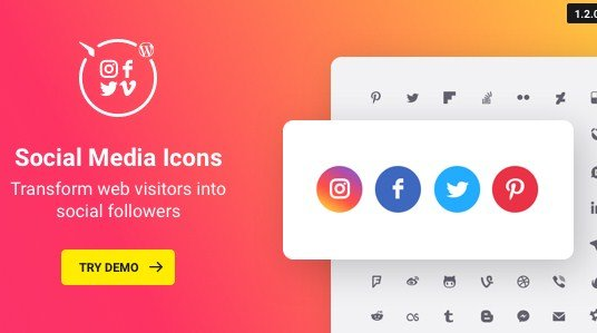 WordPress Social Media Icons Plugin