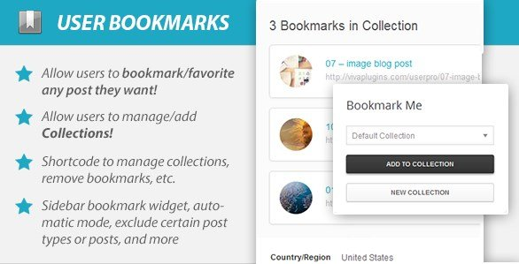 WordPress User Bookmarks for UserPro