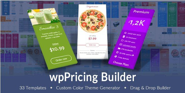 wpPricing Builder – WordPress Responsive Pricing Tables