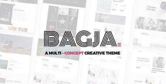 Bagja – Responsive Multi Concept & One Page Portfolio Theme