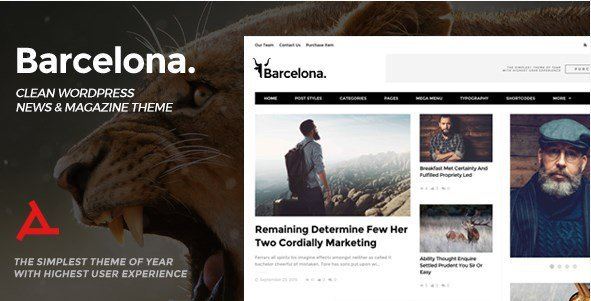 Barcelona – Clean News & Magazine WordPress Theme