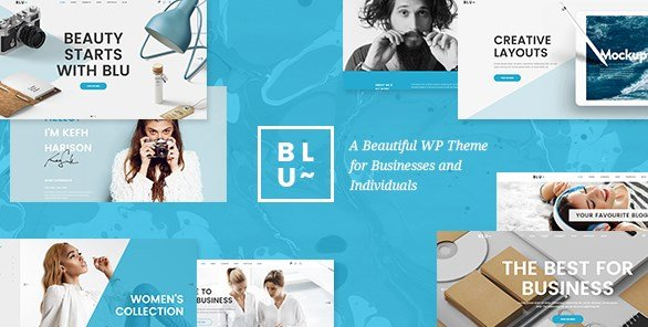 Blu – A Beautiful Theme for Businesses and Individuals