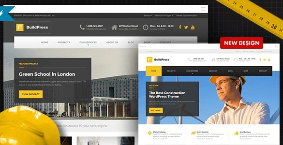 BuildPress – Construction Business WP Theme Features