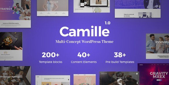 Camille – Multi-Concept WordPress Theme
