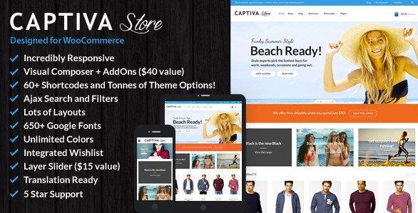 Captiva – Responsive WordPress WooCommerce Theme
