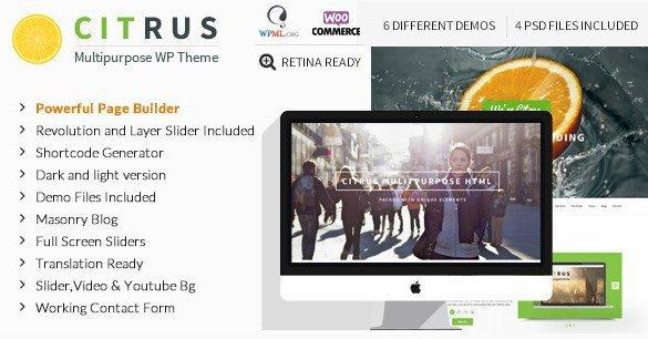 Download Citrus – One Page Multi-Purpose Theme