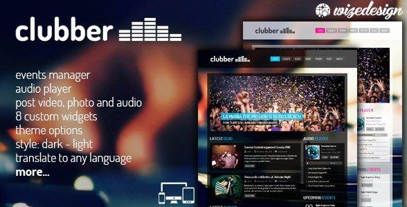 Clubber – Events & Music WordPress Theme