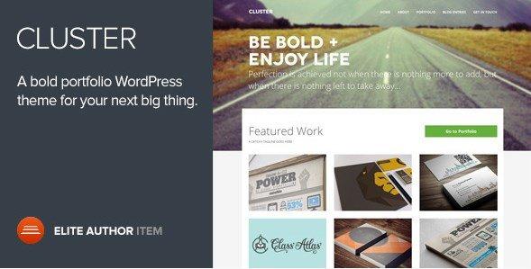Cluster – A Bold Portfolio WordPress Theme