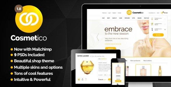 Cosmetico – Responsive eCommerce WordPress Theme