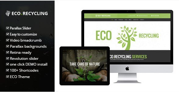Eco Recycling – A Multipurpose Nature & Ecology WordPress Theme