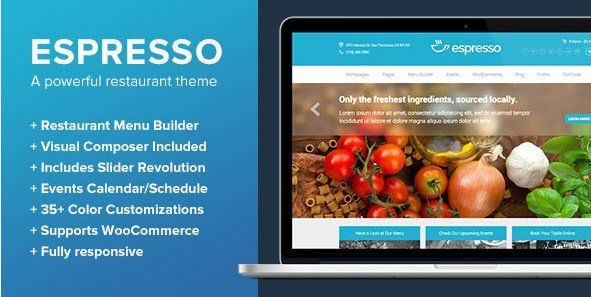 Espresso – A WordPress Theme for Restaurants