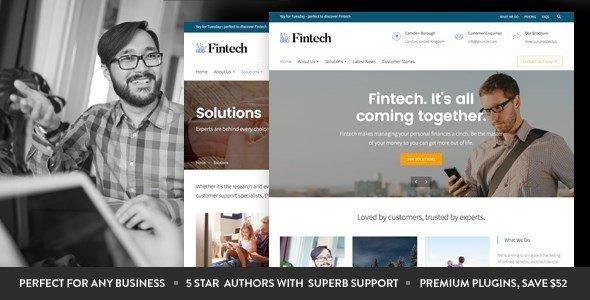 Fintech – Startup WordPress Theme