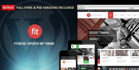 FIT – Fitness/Gym Responsive WordPress Theme