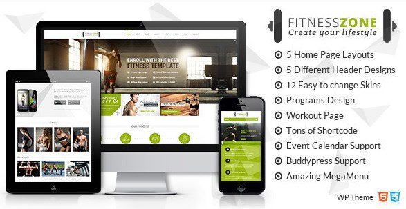 Fitness Zone – Gym & Fitness Theme