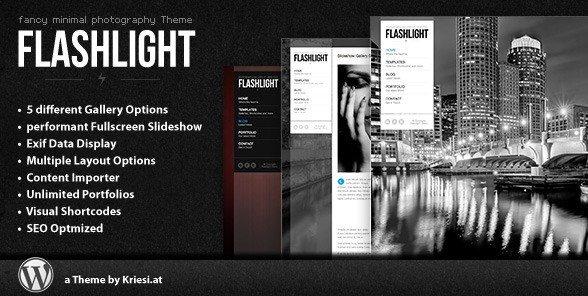 Flashlight – Fullscreen Background Portfolio Theme