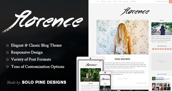 Florence – A Responsive WordPress Blog Theme