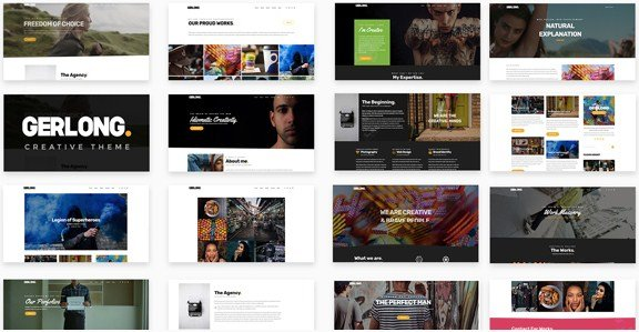 Gerlong – Responsive One Page & Multi Page Portfolio Theme