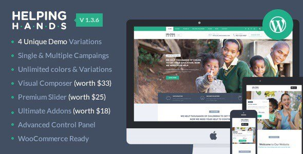 HelpingHands – Charity/Fundraising WordPress Theme