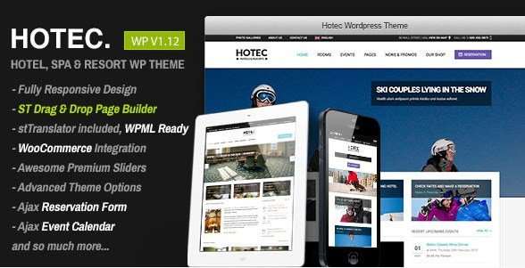 Hotec – Responsive Hotel Spa & Resort WP Theme