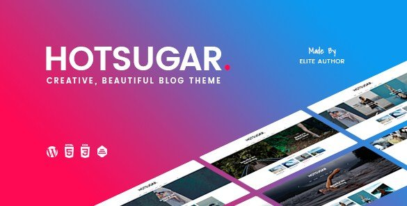 HotSugar – Responsive WordPress Blog Theme