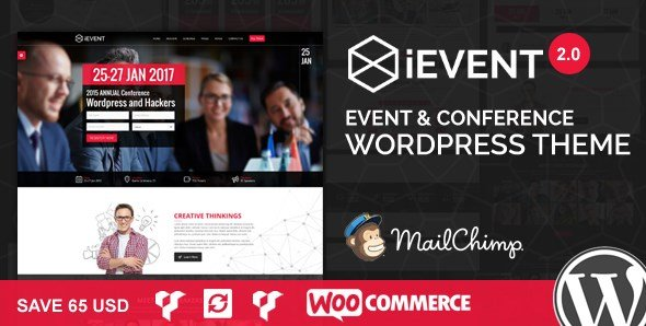 iEvent – Event & Conference WordPress Theme