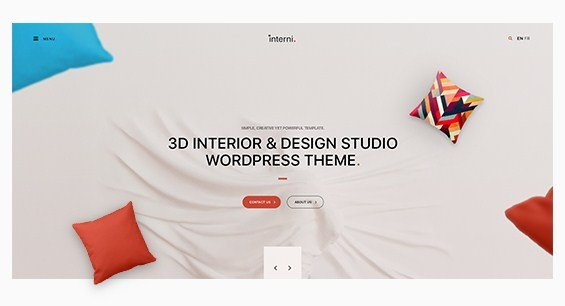 Interni - 3D Interior & Design Studio WordPress Theme