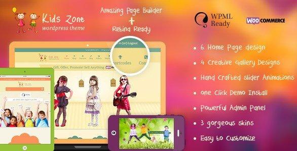 Kids Zone - Children & Kids WordPress Theme