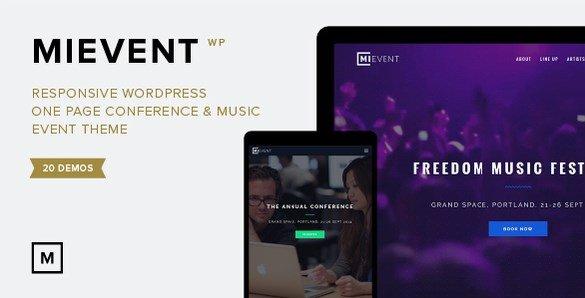 MiEvent - Responsive Event & Music WordPress Theme