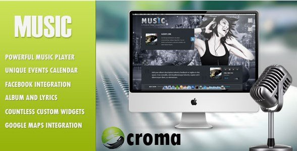 Music - Musicians theme & Facebook app