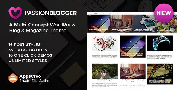 Passion Blogger - A Responsive WordPress Theme