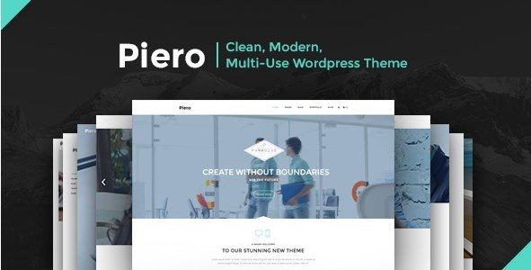 PIERO - Clean Modern Multi-Use Wordpress Theme