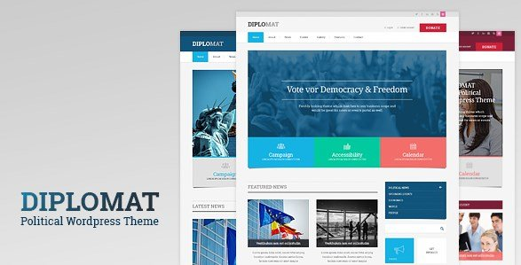Political Candidate Responsive WordPress Theme - Diplomat